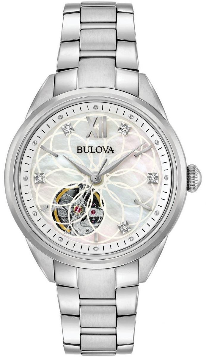 Zegarek damski Bulova Diamond Automatic 96P181 (szafirowe szkło, automat) @ Zegarownia