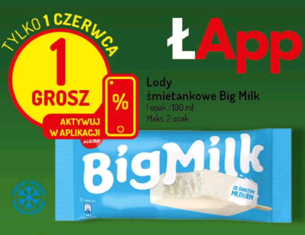 Big Milk za 1 grosz z okazji Dnia Dziecka - Delikatesy Centrum oraz Mila (kupon w aplikacji)