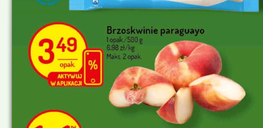 Brzoskwinie ciasteczkowe Paraguayo (UFO) za 6,98 zł / kg Delikatesy Centrum (kupon w aplikacji)