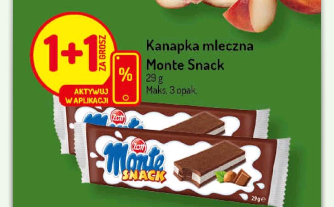 Monte Snack Mleczna Kanapka za 0,95 zł / szt. przy zakupie dwóch sztuk Delikatesy Centrum (kupon w aplikacji)
