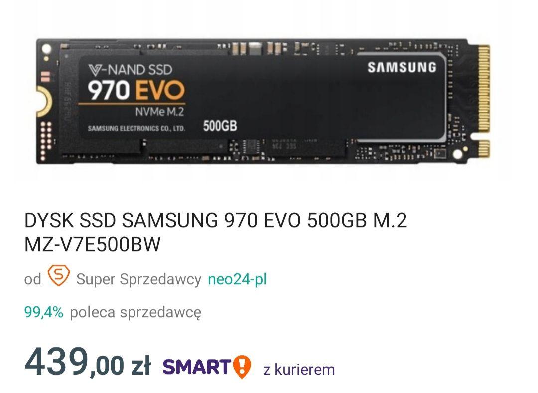 samsung 970 evo 500gb nvme m2