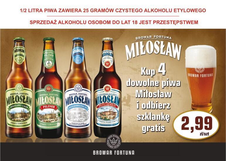Szklanka gratis do 4 piw Miłosław- Stacje paliw Crab