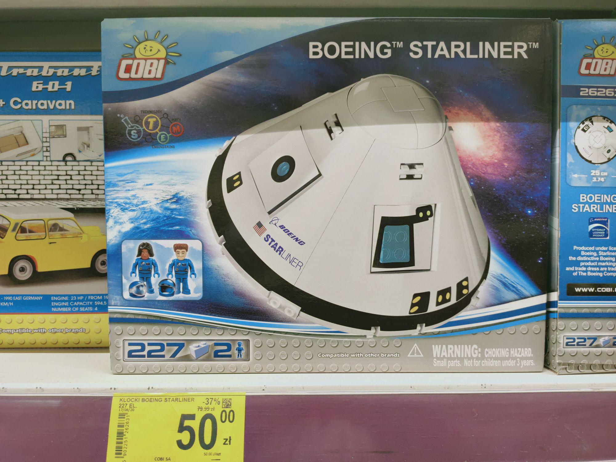 Cobi Boeing Starliner carrefour