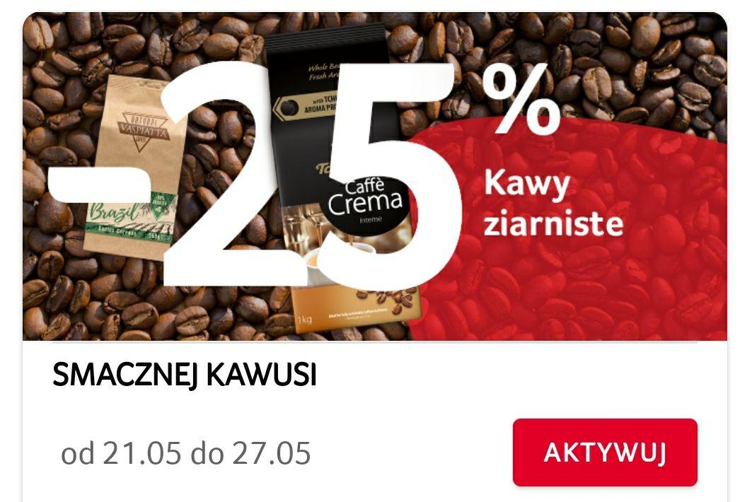 -25% na wszystkie kawy ziarniste z aplikacją
