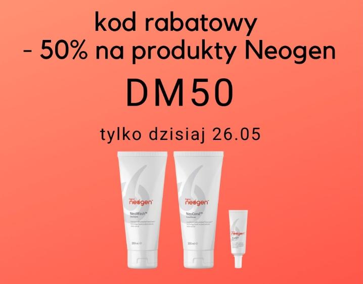 50% rabatu na kosmetyki na porost i wzmocnienie włosów Neogen