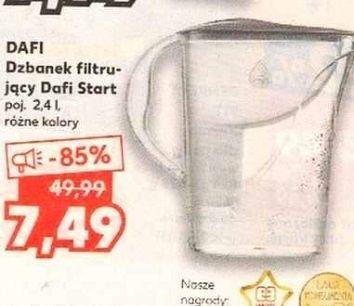 DAFI Dzbanek filtrujący Dafi start 2.4L + wkłady za 7.99 - Kaufland
