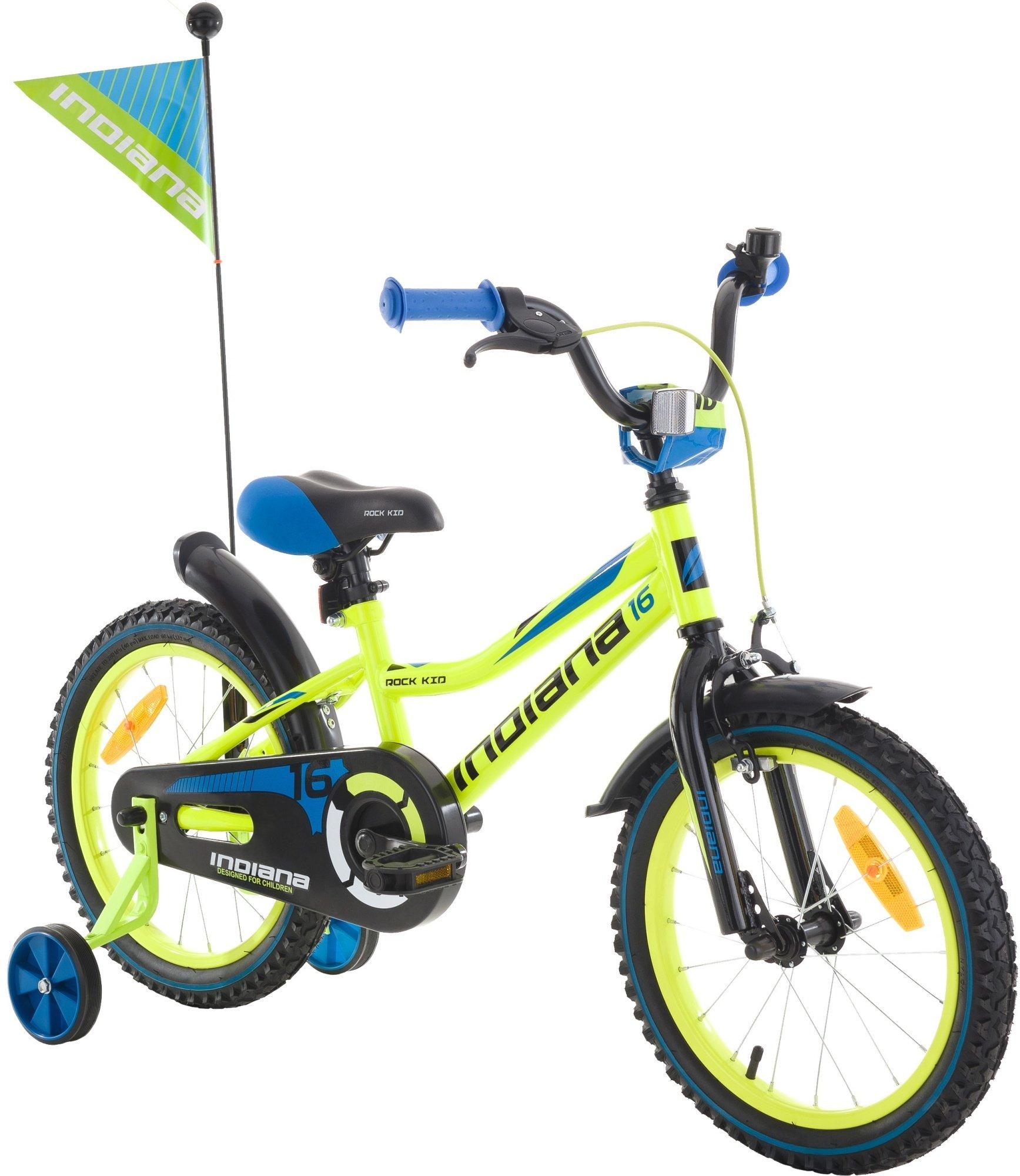 Rower INDIANA Rock Kid 16 Limonkowy na mediaexpert