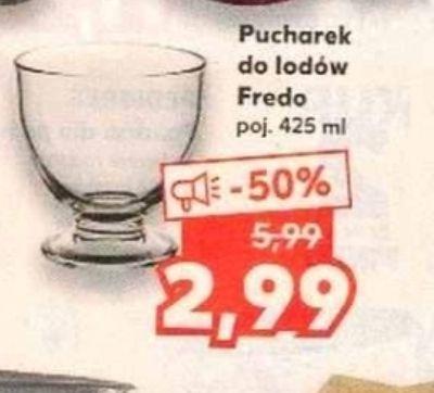 Duży pucharek do lodów/ deserów Fredo 425 ml 50% taniej + lody - Kaufland