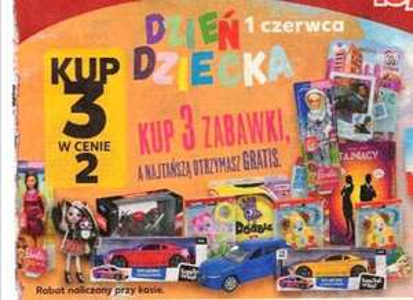 Zabawki 3 w cenie 2. Kaufland