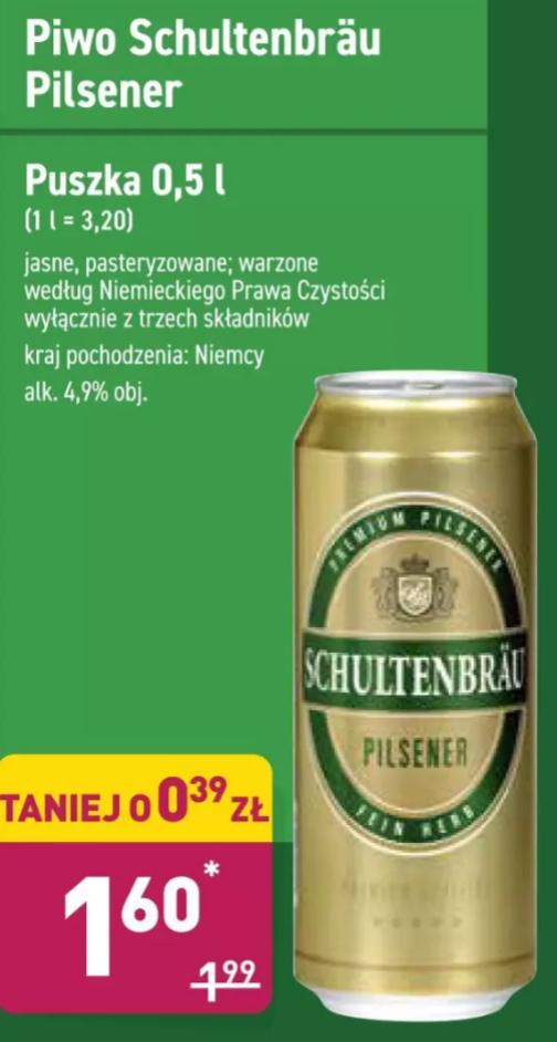 Piwo Schultenbrau Pilsner 4,9% 500ml Aldi