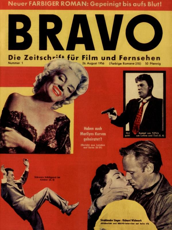 Kolekcja czasopisma Bravo z lat 1956-1994 (1 egzemplarz na rok) - po niemiecku :(