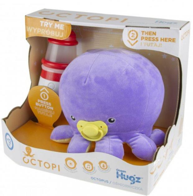 Octopi Ocean Hugzzz ośmiorniczka + latarnia z Wyprzedaży zabawek