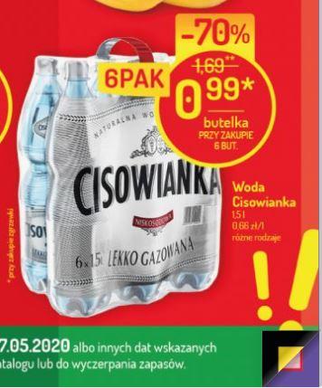 CISOWIANKA 1.5L przy zakupie zgrzewki 0,99 PLN/szt. supermarket Mila