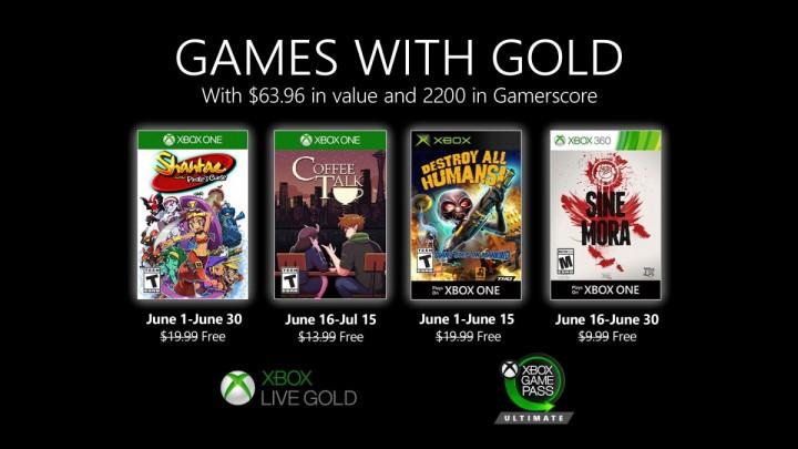 Games with Gold - czerwiec 2020 @ Xbox One/Xbox 360
