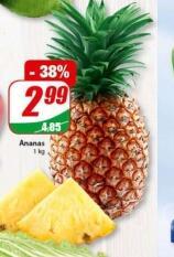 Ananas 2,99 zł / kg @Dino
