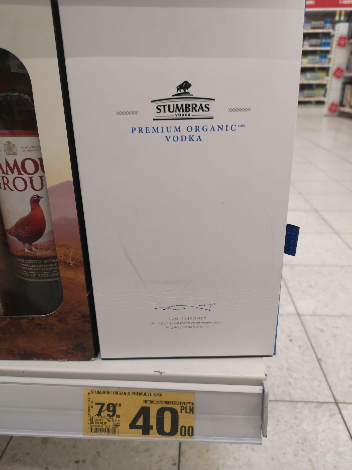 Stumbras 0.7l Premium Organic Vodka AUCHAN