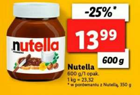 Krem czekoladowy Nutella 600g