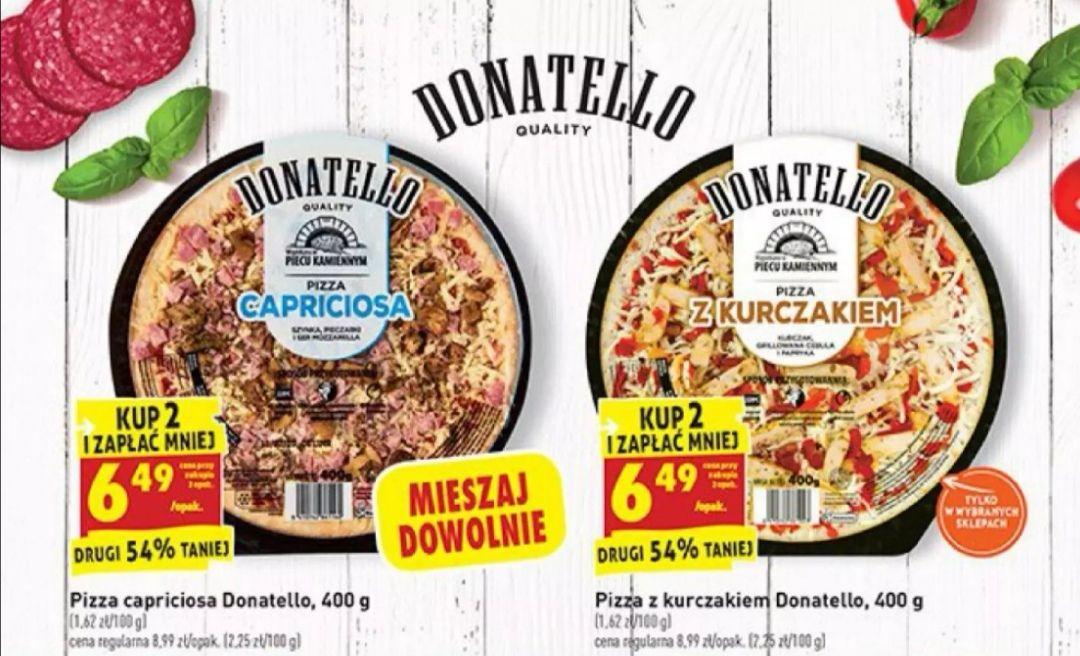 Pizza Donatello Capriciosa oraz z kurczakiem za 6,49 przy zakupie dwóch sztuk BIEDRONKA