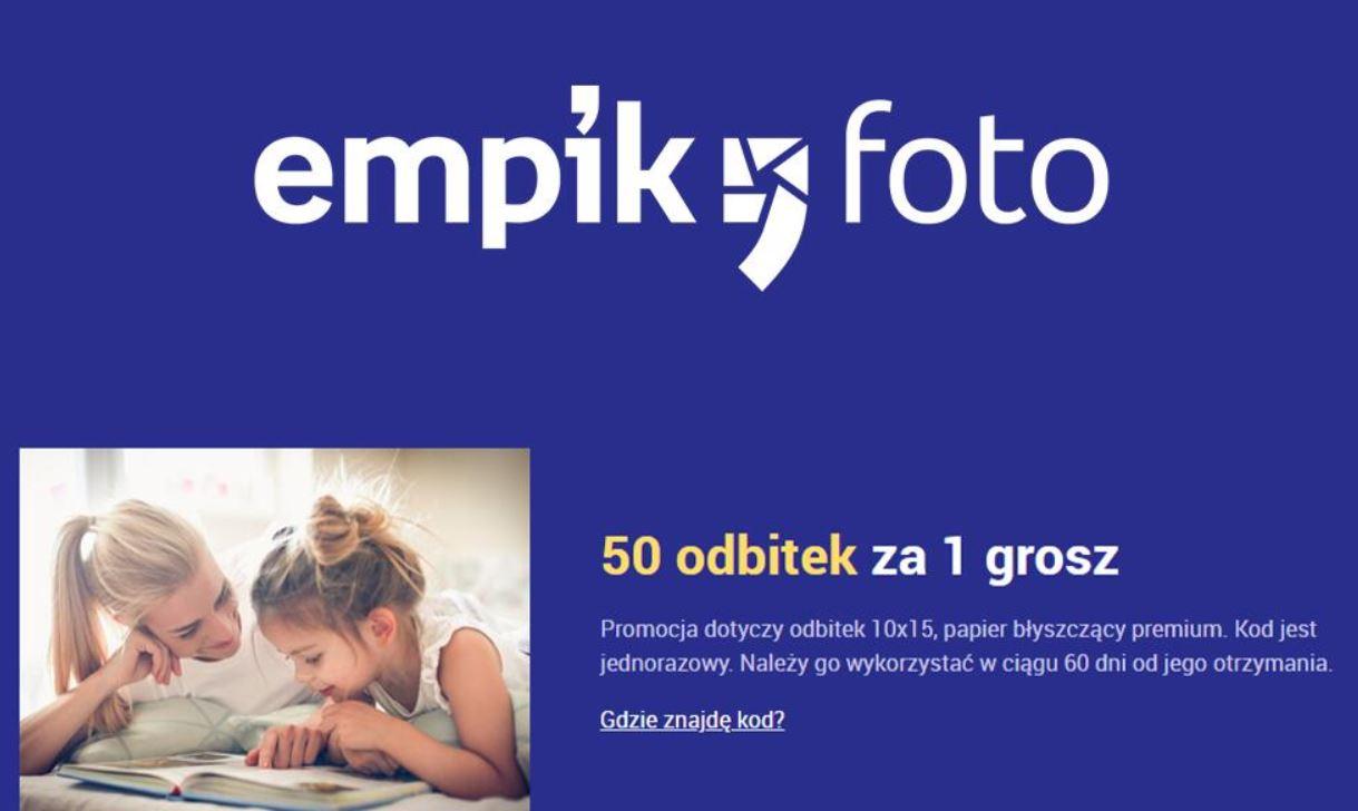 50 odbitek za 1 grosz. Empik foto - oferta z Empik Premium.