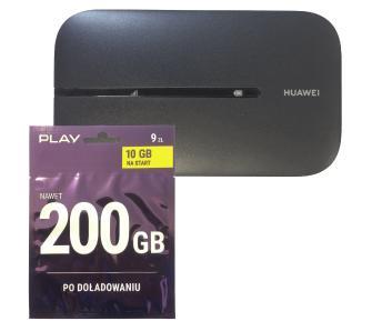 Router / modem zewnętrzny Huawei E5576 (czarny) + Starter Play 10GB