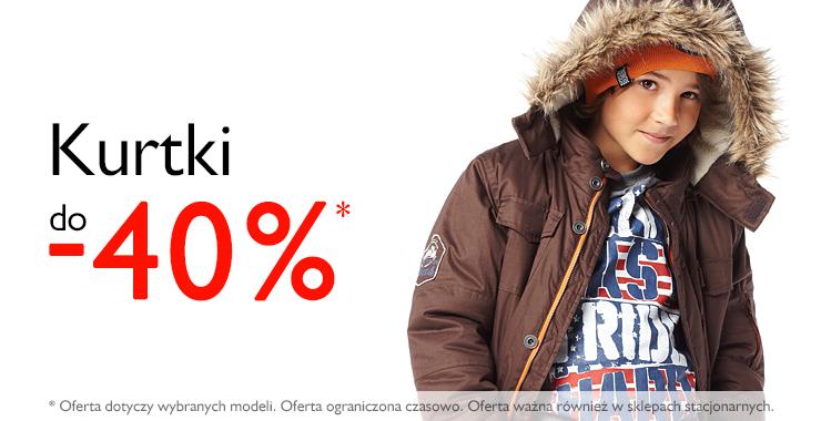 Do 40% rabatu na kurtki dziecięce @ 5.10.15