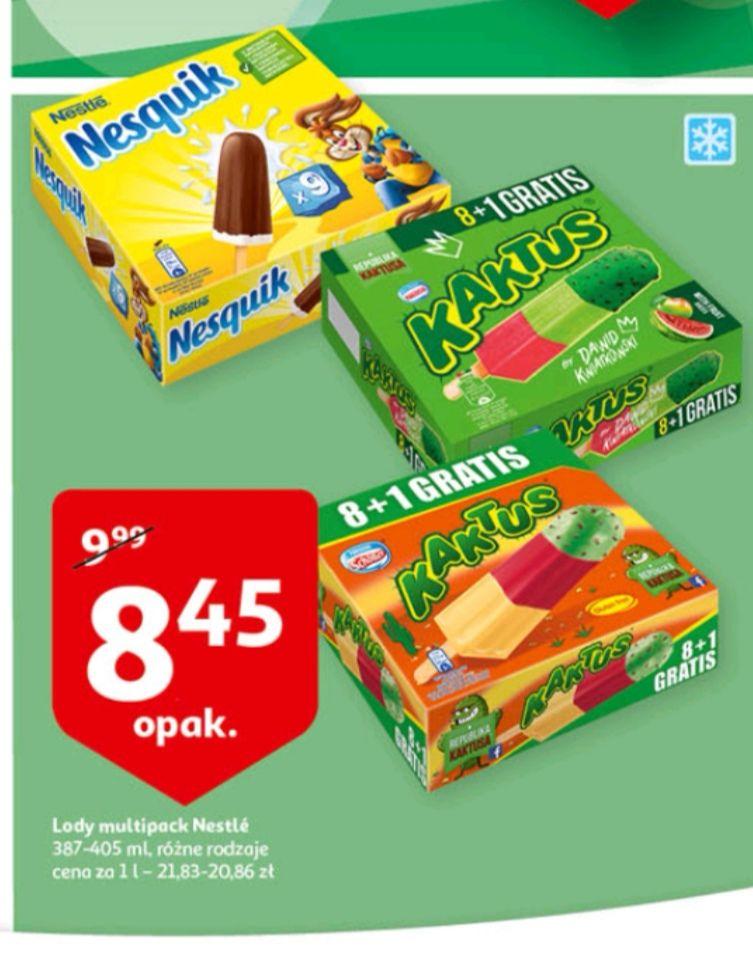 Lody Nestlé Nesquik lub Kaktus 9 sztuk w Auchan