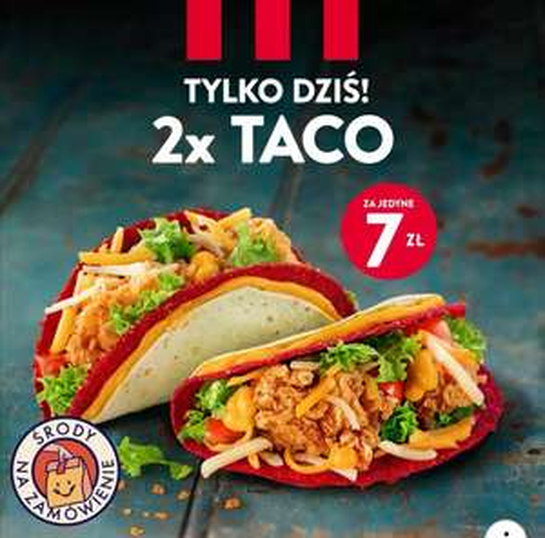 KFC 2x Tacos za 7zł