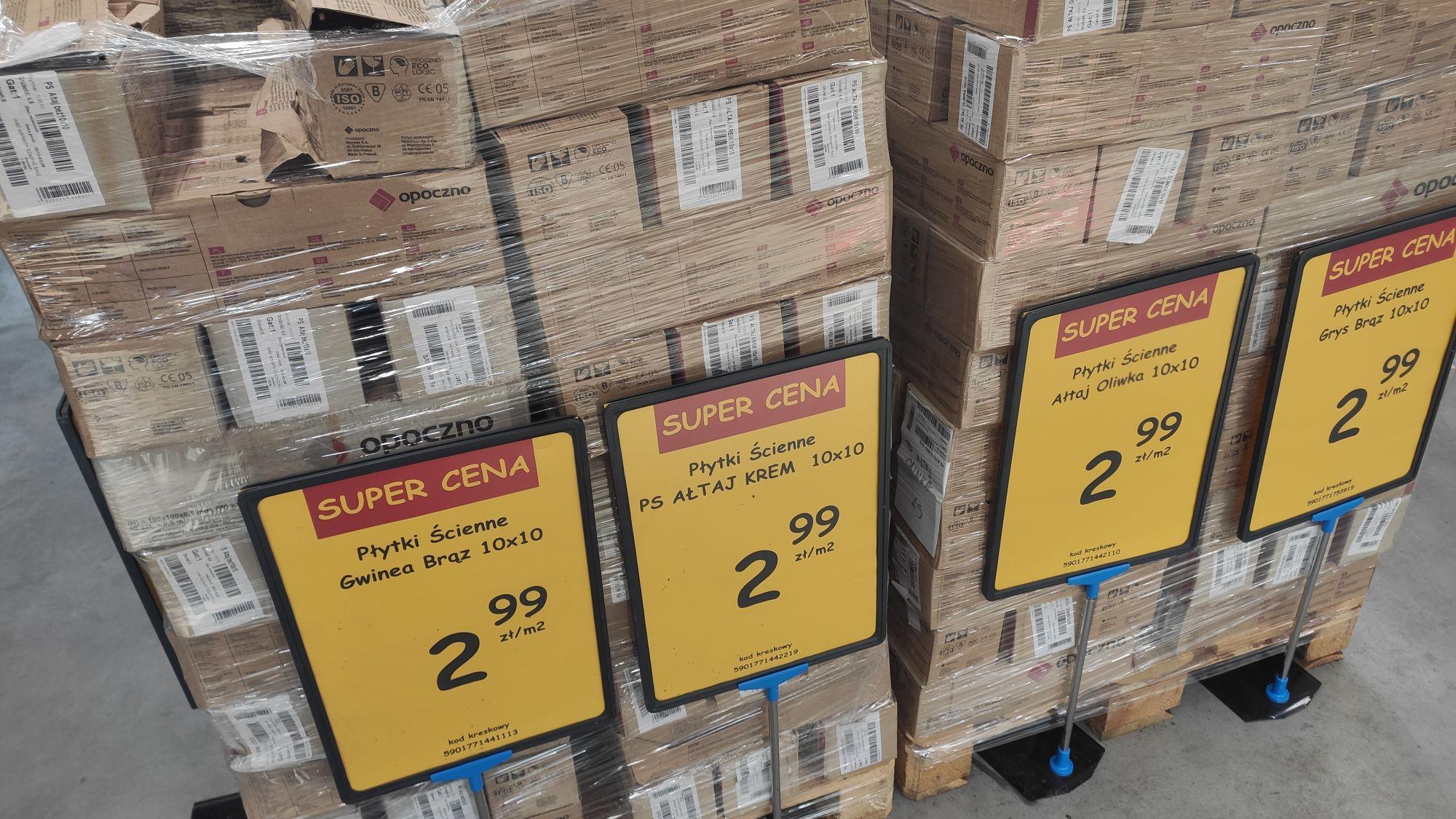 Płytki Opoczno 10x10cm cena za m2 ścienne kuchnia, różne rodzaje Koziegłowy