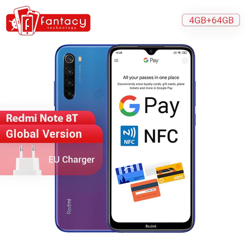 Wersja globalna Xiaomi Redmi Note 8 T 8 T 4GB RAM 64GB ROM Snapdragon 665 Octa Core 6.3 ''48MP 4000mAh 18W QC NFC Dostawa z Polski