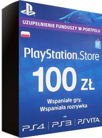 Doładowanie PlayStation Store 100 zł keye.pl