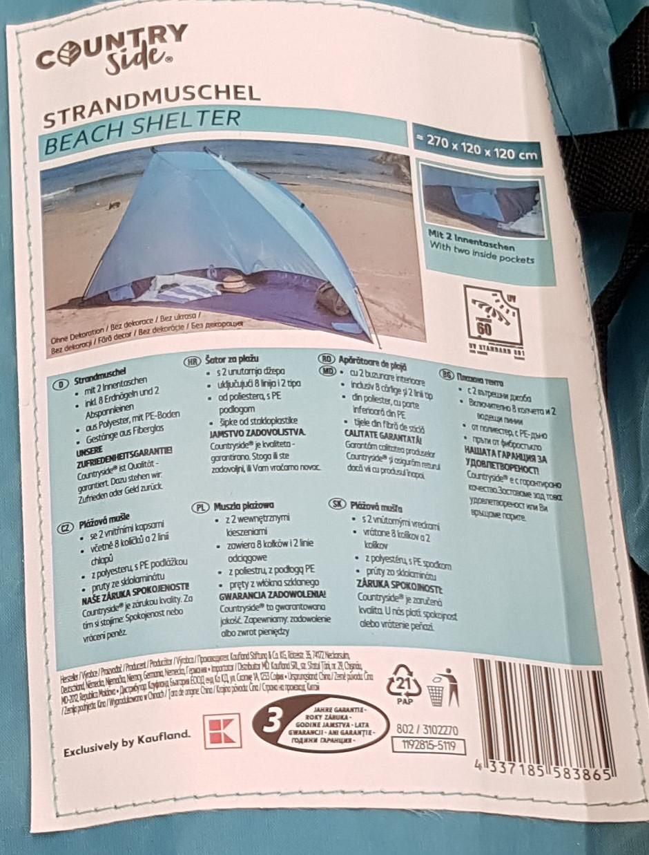 Namiot plażowy @Kaufland