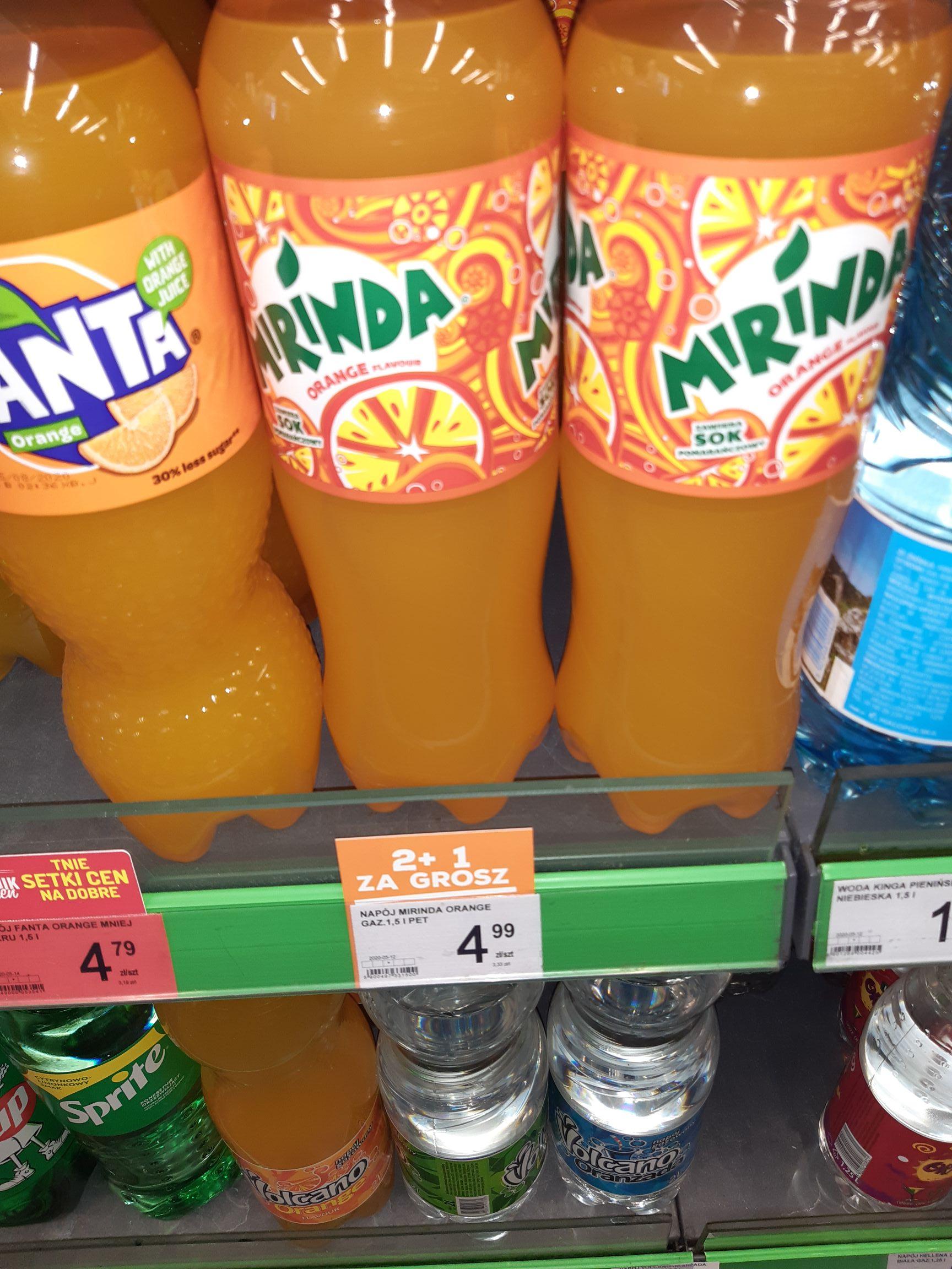 Napój Mirinda 1.5l za 3.33zł przy zakupie 3 sztuk Delikatesy Centrum Szczyrzyc