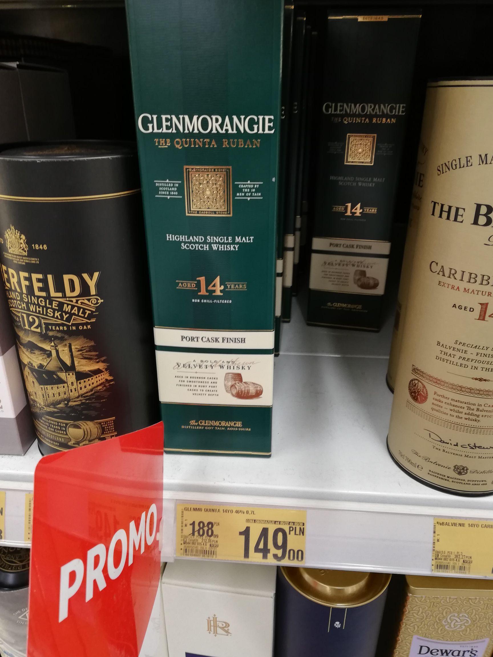 Whisky Glenmorangie Quinta Ruban 14yo Royal Brackla 12yo Auchan Tarnów Błonie