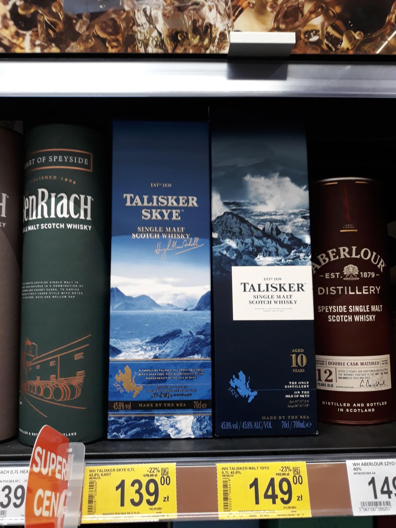 Whisky Talisker Skye i 10, Carrefour, Łódź, Przybyszewskiego
