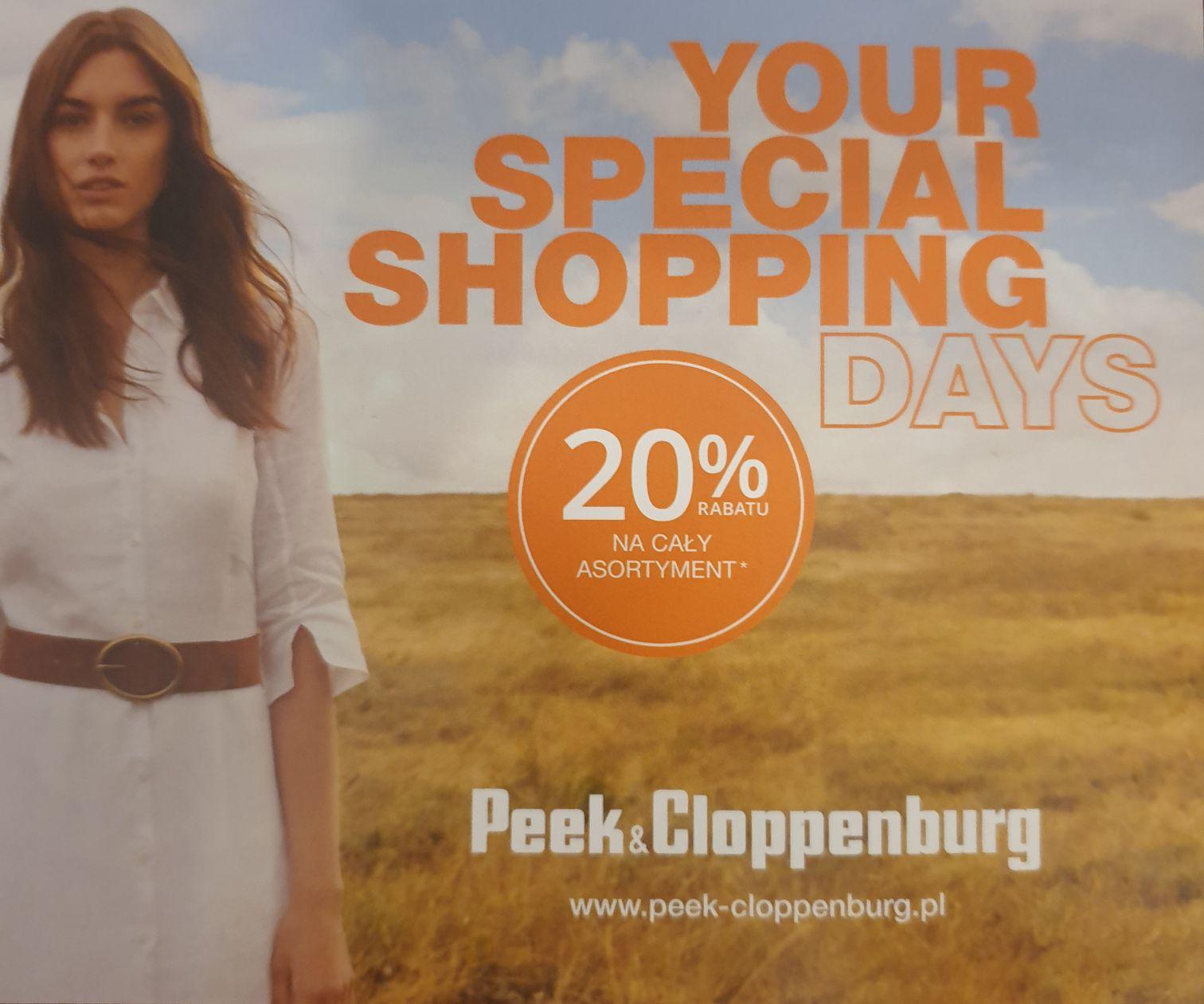 20% rabatu na cały asortyment Peek&Cloppenburg
