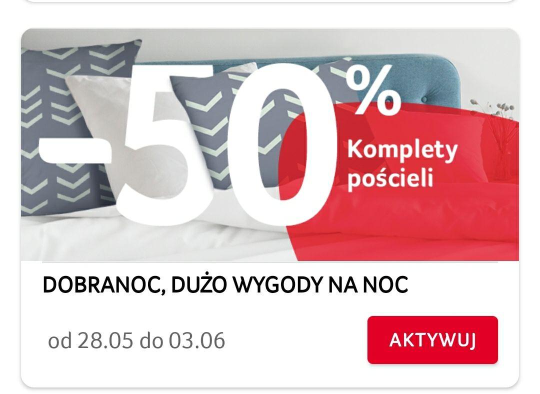 -50% na komplety pościeli ; -25% na narzędzia bosch ; -30% na patelnie Tefal w aplikacji Selgros