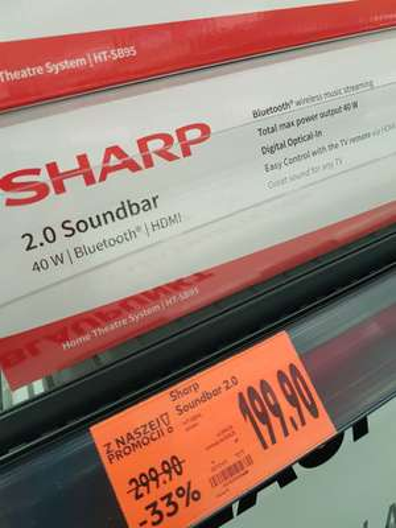 Głośnik soundbar Sharp HT-SB95. Kaufland