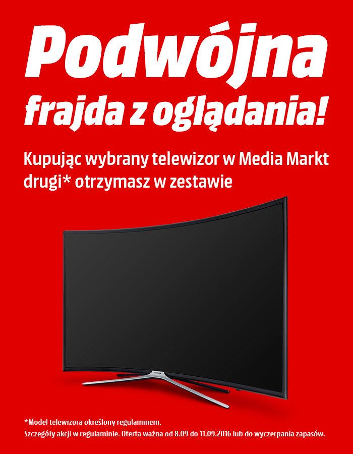 Przy zakupie wybranych modeli telewizorów - drugi TV w zestawie gratis @ Media Markt