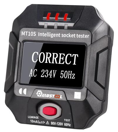 Tester gniazdek elektrycznych Mustool MT10S/MT10E RCD z wyświetlaczem