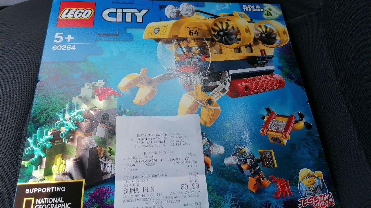 LEGO City 60264 Łódź podwodna badaczy oceanu, Tesco