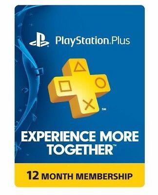 PlayStation Plus 12 miesięcy - 32,95 USD/132,65zł - ebay.com (tylko USA)