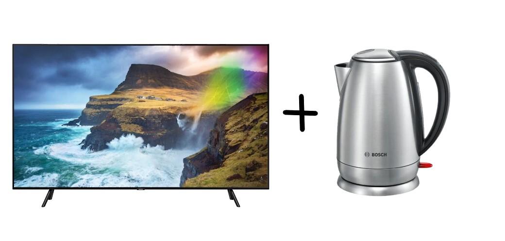 TV SAMSUNG QE65Q70RAT z czajnikiem Bosch za 4358zł NEONET