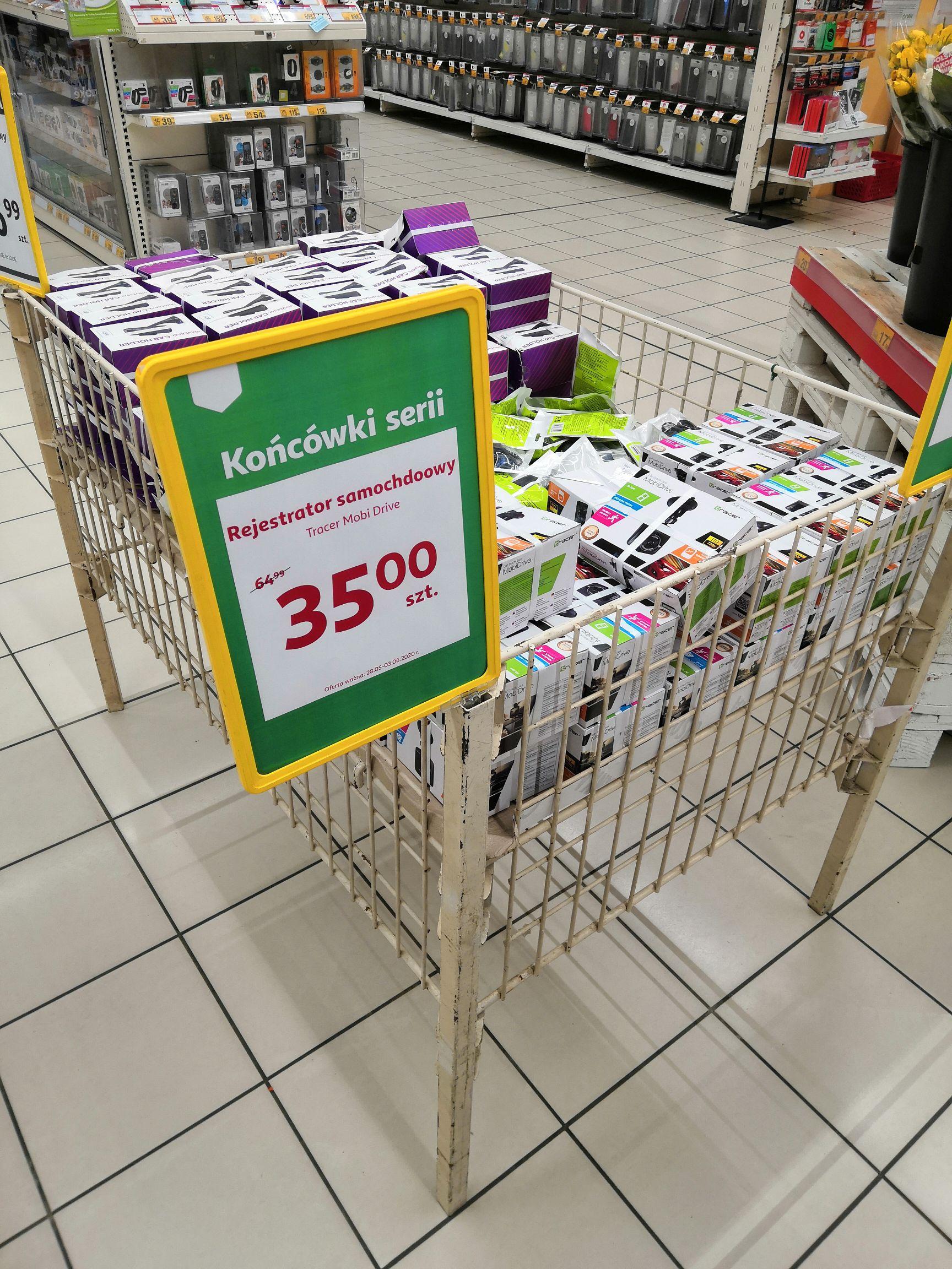 Wideorejestrator Tracer Mobi Drive w Auchan Bielany Wrocławskie