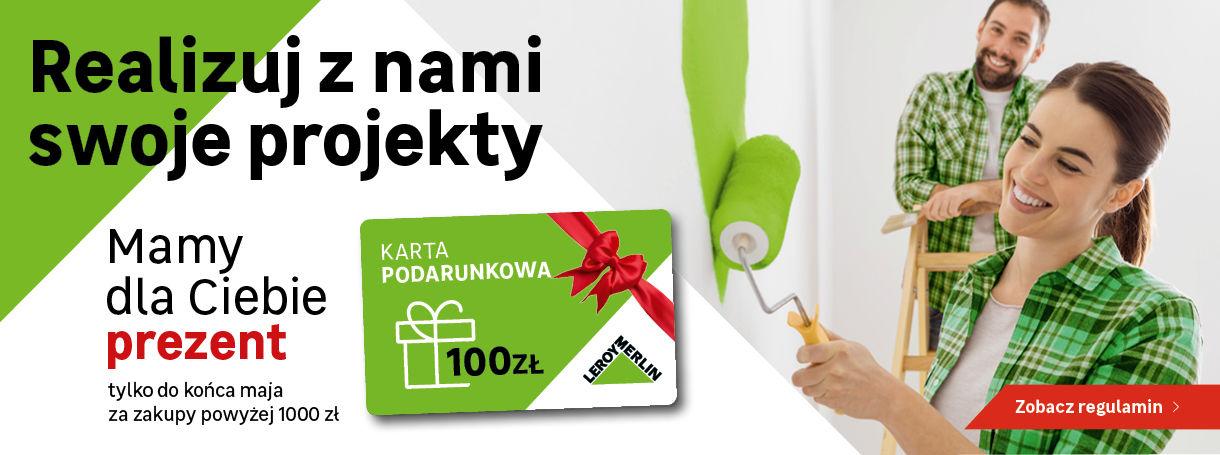 Leroy Merlin - karta podarunkowa 100 zł za wydanie 1000 zł