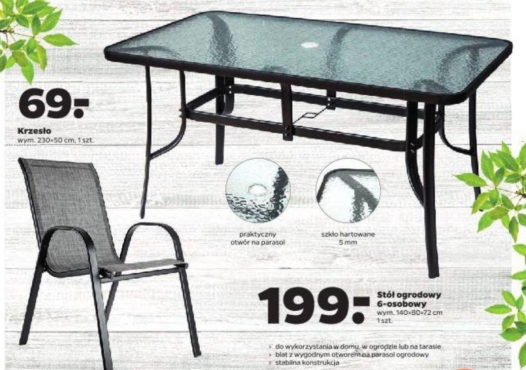 Meble ogrodowe stół 199zł i krzesła po 69zł/szt. @ Netto