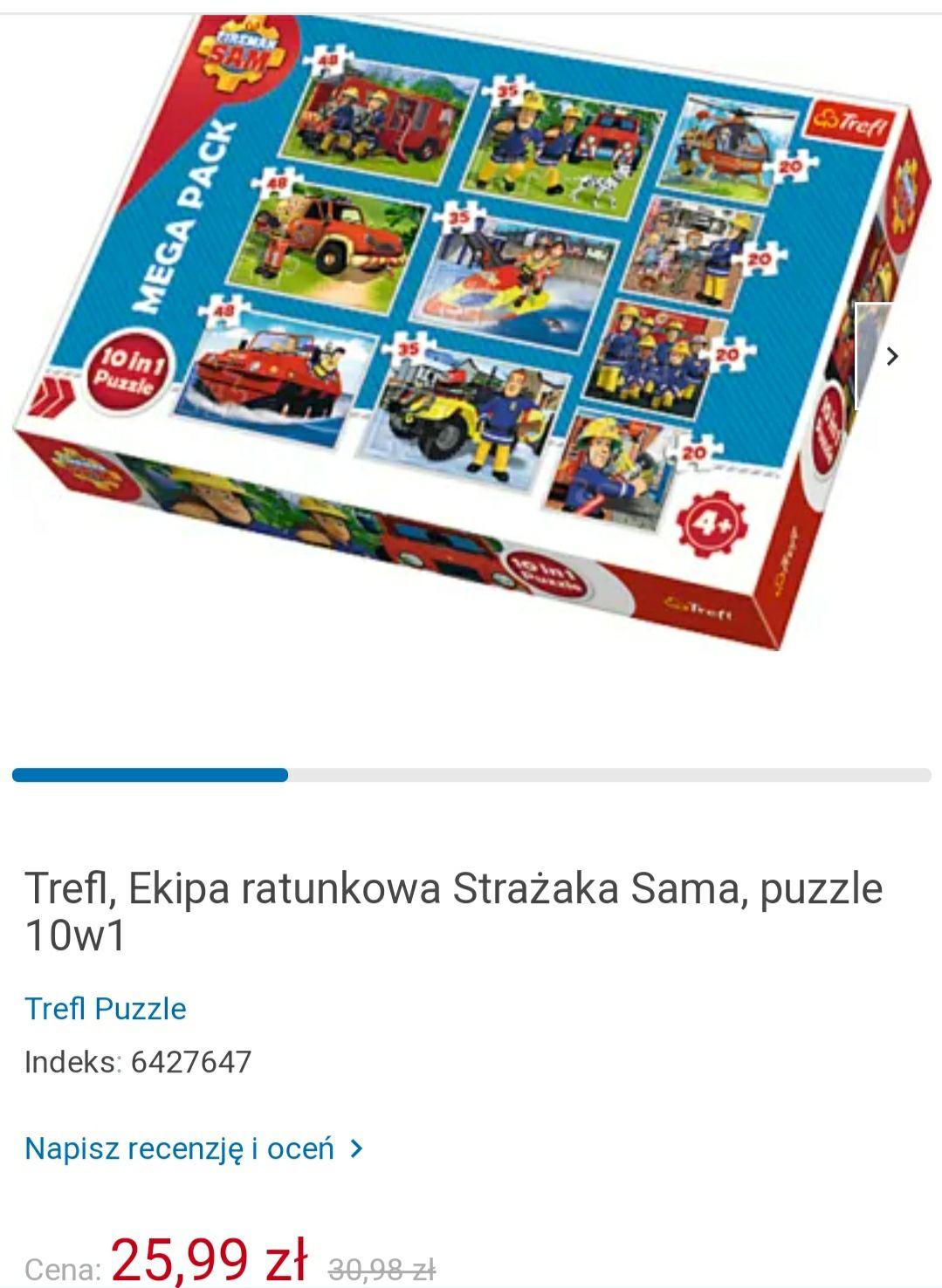 Puzzle 10w1 Strażak Sam