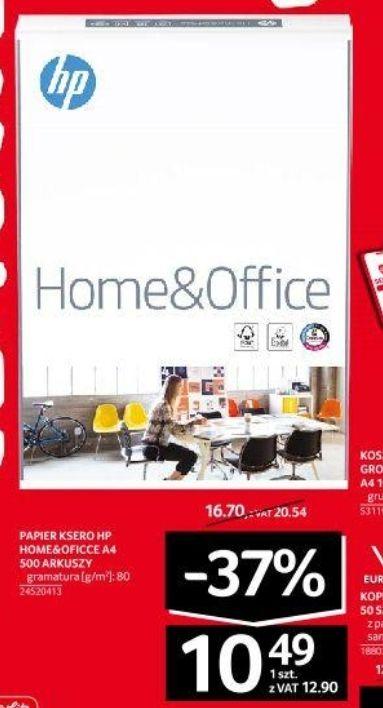 Papier ksero HP Home&Office A4 500 arkuszy 80g/m2 + segregatory, koperty, koszulki groszkowe a4, długopisy w promo cenie - Selgros