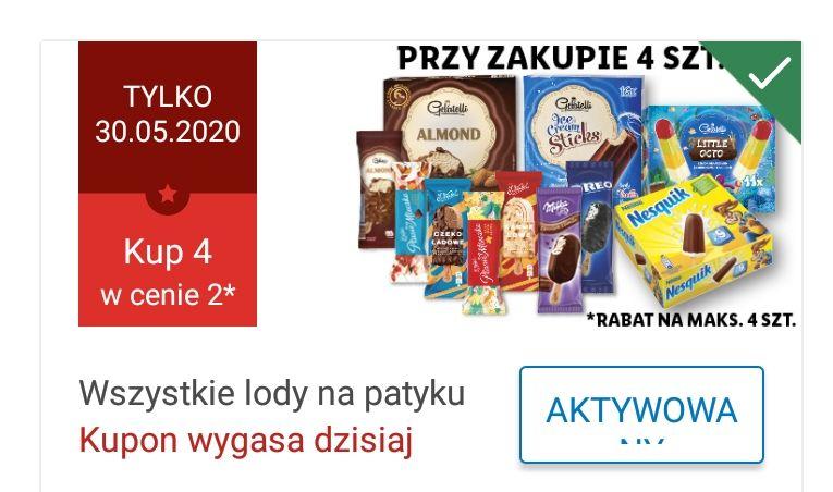 LIDL TYLKO 30.05.2020 KUP 4 LODY NA PATYKU W CENIE 2