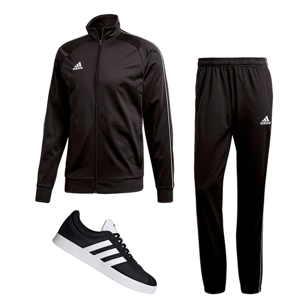 Zestaw Adidas Core 18 (bluza+spodnie) oraz buty VL Court 2.0 za 279,99zł @ geomix