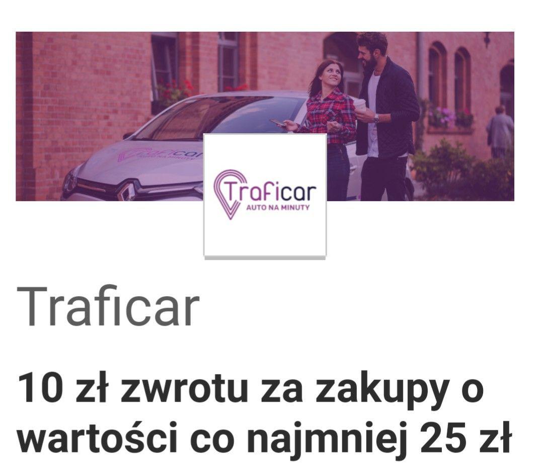 Visa oferty Traficar 10 zł zwrotu za zakupy o wartości co najmniej 25 zł